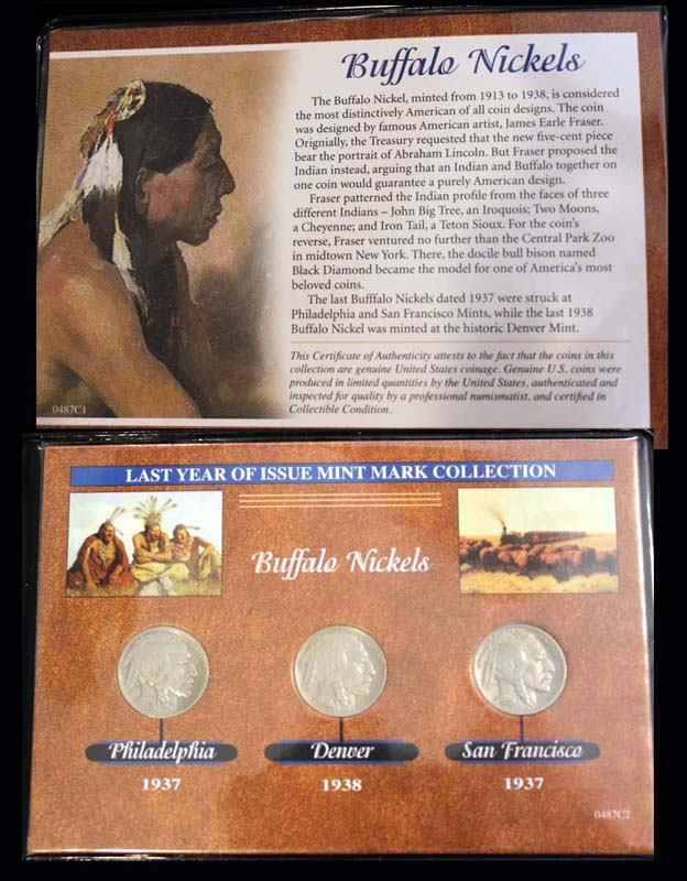 Last Year of Issue Series, Buffalo Nickle, 1937/1938